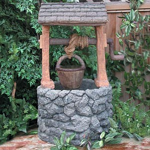 When you wish upon a lawsuit the return of the modern for Garden wishing well designs