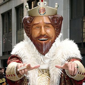 Burger King Will Abdicate His Throne To Marry A Commoner   And It   s    Burger King Guy Thumbs Up