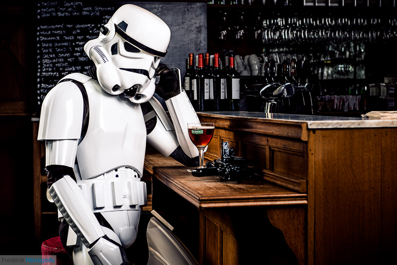 A very drunk stormtrooper thinking.
