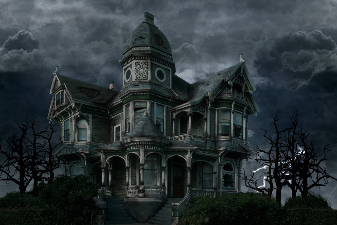 Happy halloween from the staff at the haunted house on for Disegni casa chateau