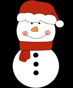 snowman-in-santa-hat