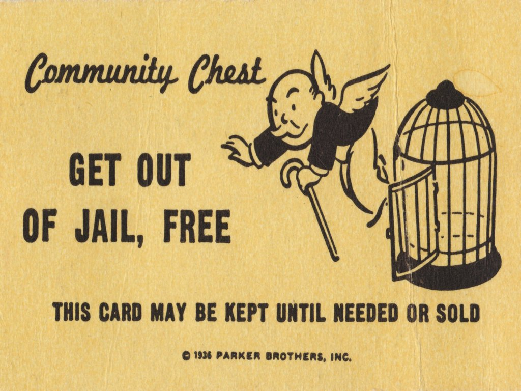 New york bans monopoly from prisons after recent escapes for Get out of jail free card template