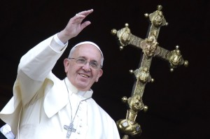 Pope Francis gives the Christmas Urbi et Orbi Blessing at St Peter Square