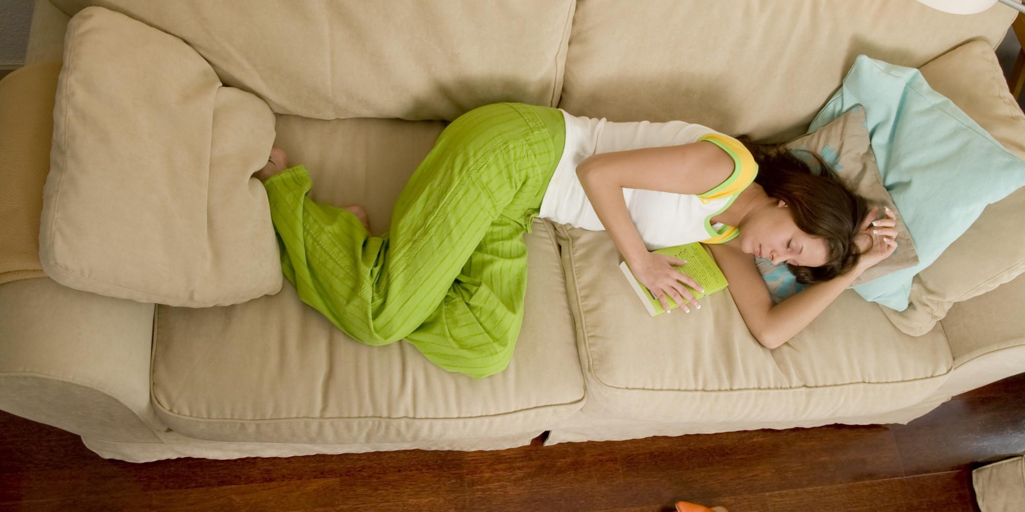 Think, Wife sleeping on sofa