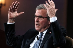 Jeb Bush practicing how to fall safely in preparation for New Year's Eve.