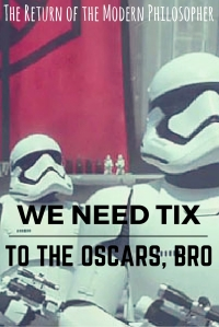 I'm featured over on The Good Men Project and I'm sharing a few final Deep Thoughts on the Oscars' lack of diversity and the Academy's lack of love for Star Wars...