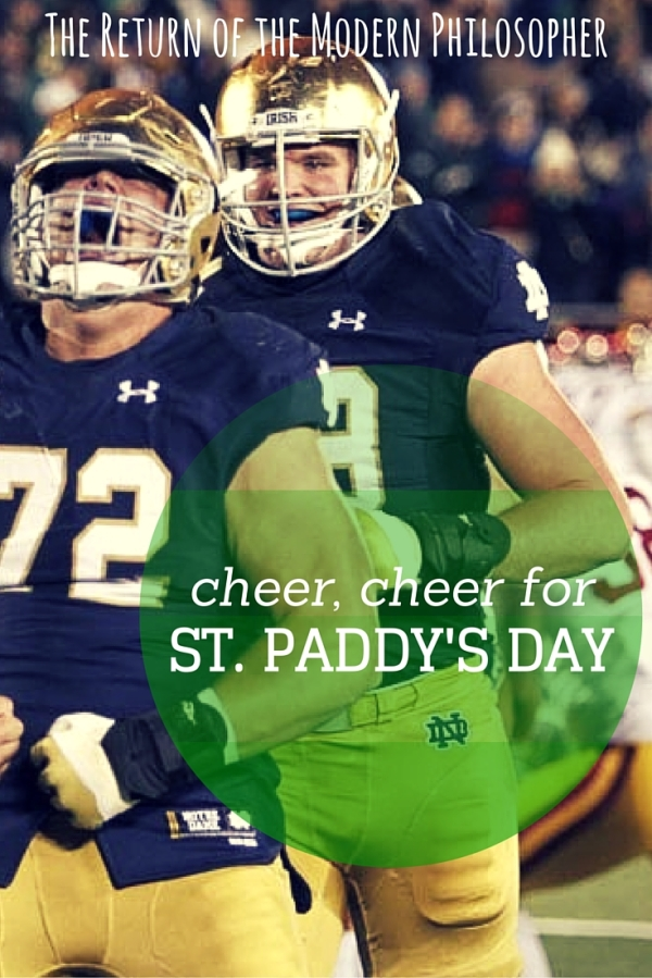 MyIrish heritage is extremely important to me, and a loveof Fighting Irish football was a special bond I shared with my Dad. Happy Paddy's Day!