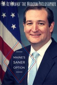 "Ted Cruz won the Maine Republican Caucus, winning Mainers over with the catchy slogan, ""I'm not Donald Trump!"" 