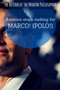 "Shout ""Marco!"" at any pool, and Americans will instinctively reply ""Polo!"". Unfortunately for one Republican Presidential hopeful, saying ""Marco"" at a primary never got an enthusiastic response..."