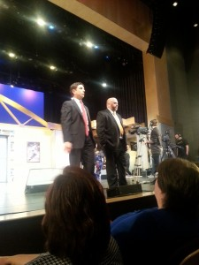 Danny Cashman and Joe Kennedy field questions from The Nite Show audience