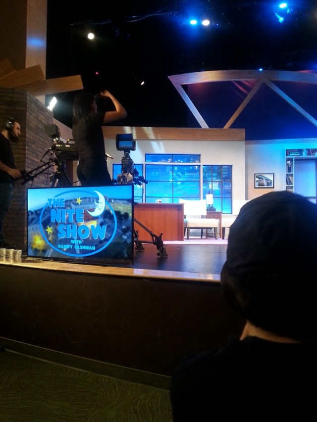 The Nite Show set right before the cameras roll.