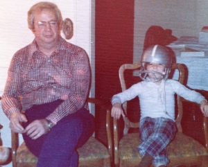 Everybody loves a sharp dressed man.  And a dorky kid in a football helmet!