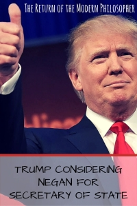 Trump Considering Negan For Secretary of State | The Return of the Modern Philosopher
