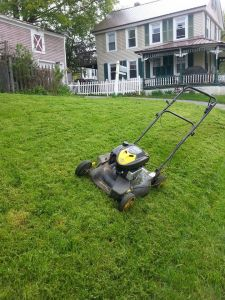 Be a pal.  Mow the lawn...