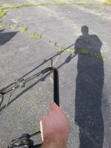 The shadow of the lawnmower man!