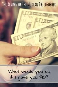 humor, philosophy, Modern Philosopher, free money, wish list, spending spree