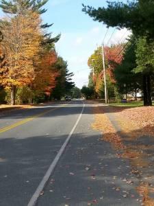 fall foliage, Maine, mental health, exercise, fitness, running, humor, Modern Philosopher