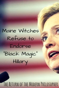Hillary Clinton, politics, Halloween, witches, magic, humor, satire, Modern Philosopher