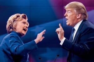 Hillary Clinton, Donald Trump, politics, debate, Monday, coffee, humor, Modern Philosopher