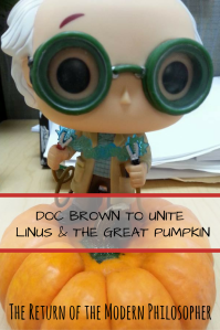 Doc Brown, Halloween, short story, Donald Trump, politics, Great Pumpkin, humor, Modern Philosopher