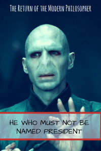 Halloween, horror, scary, Voldemort, Harry Potter, Donald Trump, politics, humor, Modern Philosopher, witches, wizards