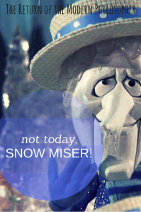 Snow Miser, Thanksgiving, snow, winter, poetry, humor, Modern Philosopher, Monday