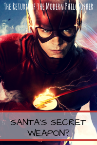 The Flash, Barry Allen, DC Comics, speedster, superhero, Santa Claus, humor, Modern Philosopher
