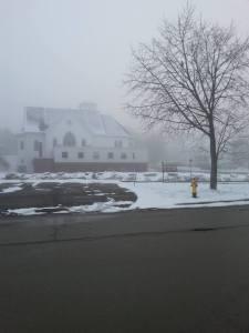 Writer's Day, mental health day, Maine, fog, winter, humor, Modern Philosopher