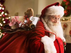 Santa Claus, The Flash, Barry Allen, DC Comics, speedster, superhero, Christmas, humor, comics, Modern Philosopher