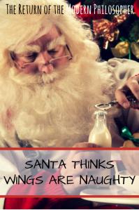 Santa Claus, The Devil, Merry Christmas, chicken wings, short story, Sundays With Satan Short Story Series, humor, flash fiction, Modern Philosopher