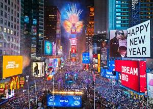 Times Square, ball drop, Happy New Year, New Year's Eve, Baby New Year, Father Time, Donald Trump, humor, satire, Modern Philosopher