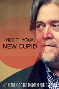 Steve Bannon, President Trump, Cupid, Valentine's Day, relationships, humor, Modern Philosopher