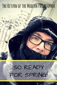 Winter Storm Stella, East Coast blizzard, winter in Maine, Snow Miser, humor, Modern Philosopher