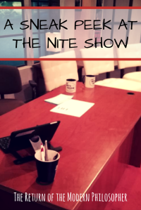 The Nite Show, Danny Cashman, late night TV, life in Maine, writing for TV, humor, Modern Philosopher