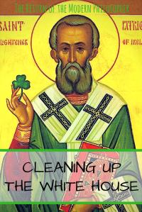 St Patrick's Day, St Patrick, President Trump, humor, politics, satire, snakes, Modern Philosopher