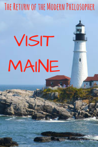 Maine, Donald Trump, summer vacation, politics, humor, Modern Philosopher