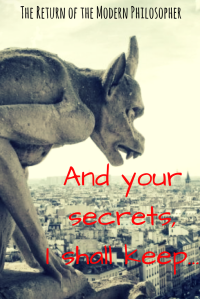 short story, flash fiction, gargoyles, relationships, secret crush, humor, Modern Philosopher