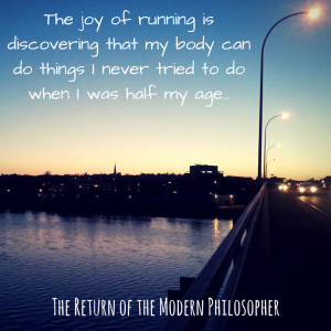 running, health, fitness, humor, self-improvement, Modern Philosopher