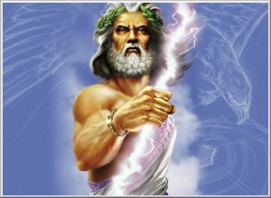 Zeus, Trump, mythology, politics, humor, Modern Philosopher