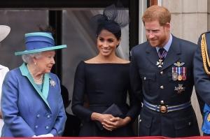 Queen Elizabeth, Prince Hary, Meghan Markle, humor, Modern Philosopher